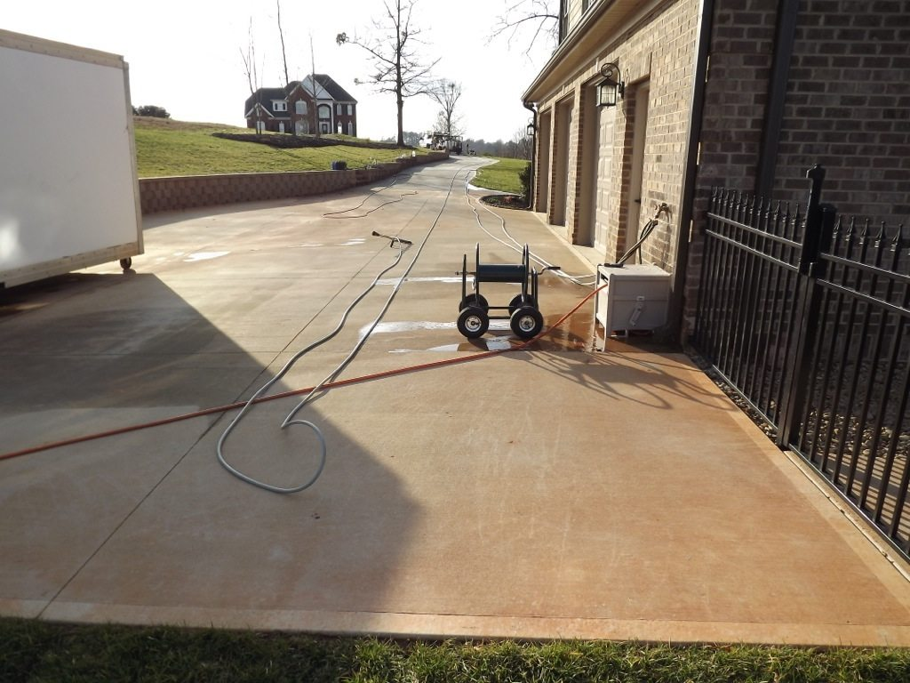 Concrete cleaning in greenville greer sc preferred for Concrete cleaning service